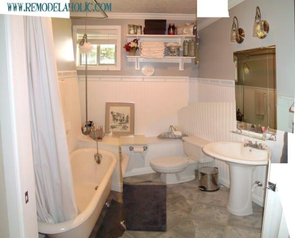 Retro Remodel Logan House Bathroom Renovation #remodelaholic