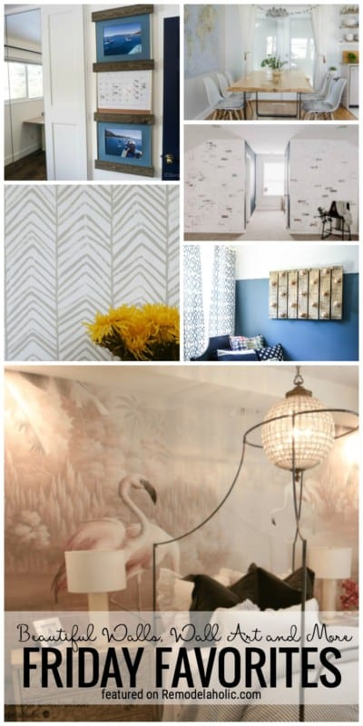Beautiful Walls, Wall Art And More For Friday Favorites Featured On Remodelaholic.com #walls #accentwalls #wallideas #paintingideas