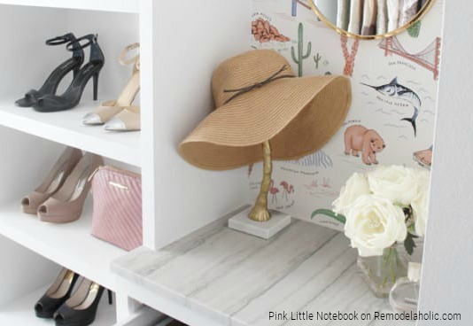 Custom DIY Closet Organizer by Pink Little Notebook Featured On Remodelaholic
