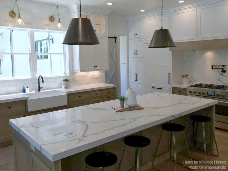 Remodelaholic Get This Look Two Tone Modern Farmhouse Kitchen