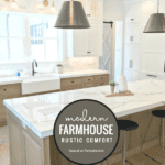 The Rustic Comfort Of This Modern Farmhouse Style Home Will Draw You In. Come Enjoy The Pleasing White Palette Of This Luxurious Home. Featured On Remodelaholic