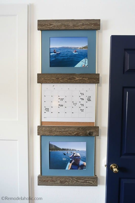 Create An Easy Gallery Wall Arrangement With Sliding Picture Ledges #remodelaholic