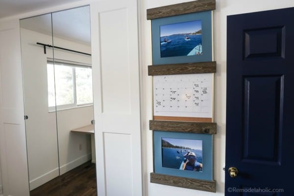 Fill An Empty Wall Quickly With $20 DIY Sliding Picture Frame Ledges #remodelaholic