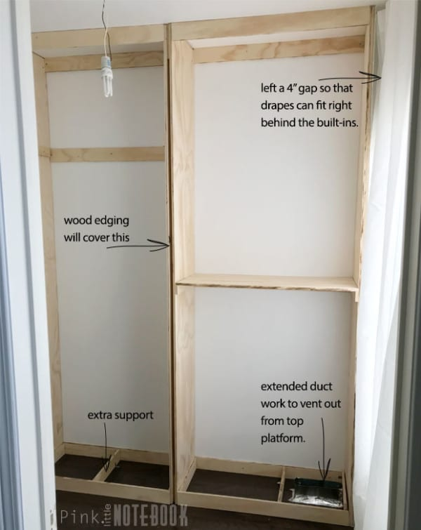 How To Build A DIY Custom Closet Organizer For A Walk In Closet 03, Pink Little Notebook Featured On #Remodelaholic