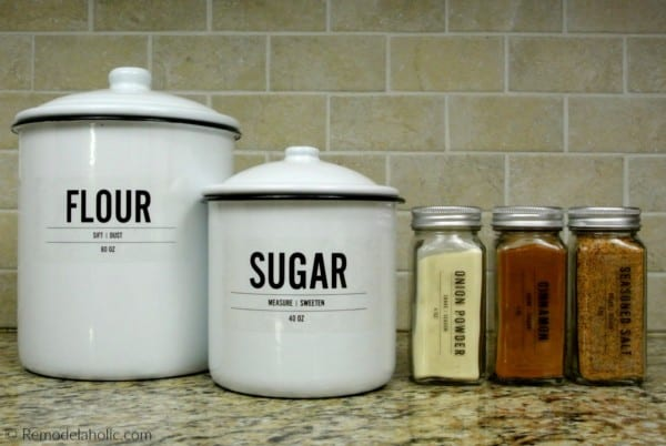 Modern Minimalist West Elm Inspired Printable Spice Labels And Matching Pantry Labels For Canisters #remodelaholic