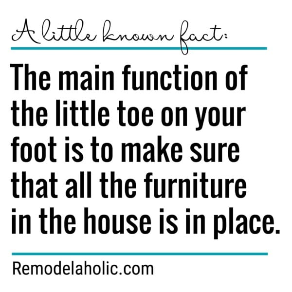 A Little Known Fact About The Baby Toe Meme Remodelaholic.com