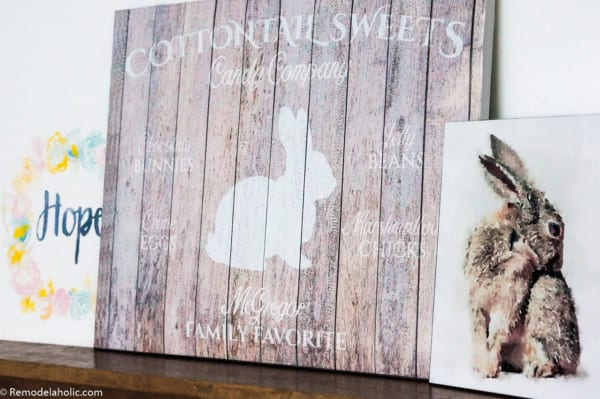 Easter Bunny Printable Set For Easy Mantel Decorating #remodelaholic (3)
