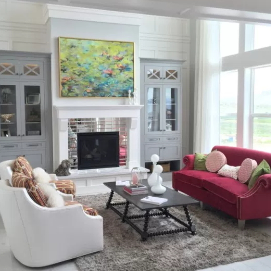 Get This Look Bold Jewel Toned Statement Living Room