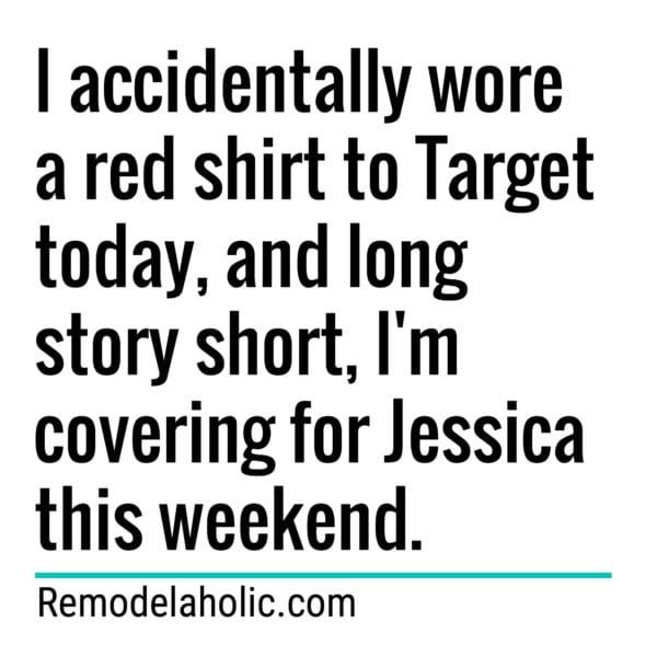 Target Red Shirt Meme Remodelaholic.com