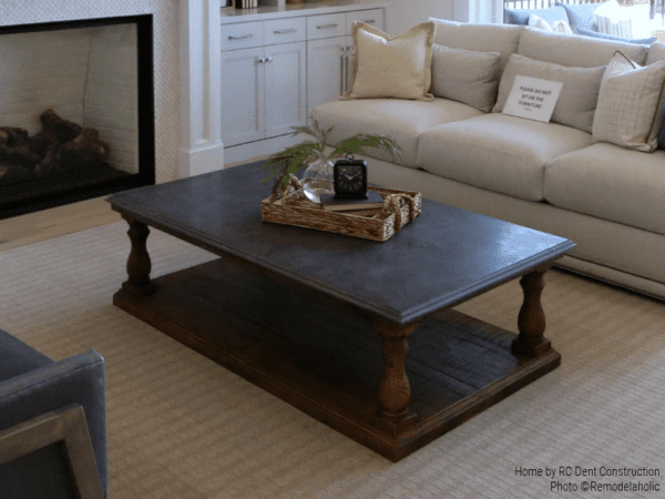Wooden Coffee Table With A Dark Wood Finish RC Dent Construction And Remedy Design 2018 Utah Valley Parade Of Homes Featured On Remodelaholic