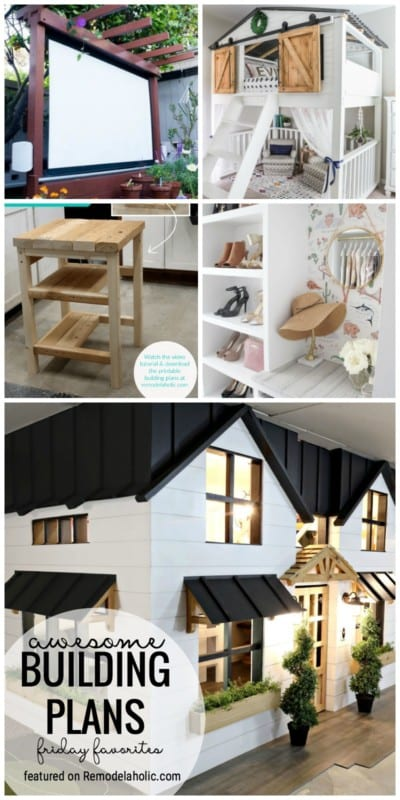 You Can Build Some Pretty Amazing Furniture Or Decor Pieces. We Are Sharing Some Amazing Awesome Building Plans Featured As Part Of Friday Favorites Featured On Remodelaholic.com