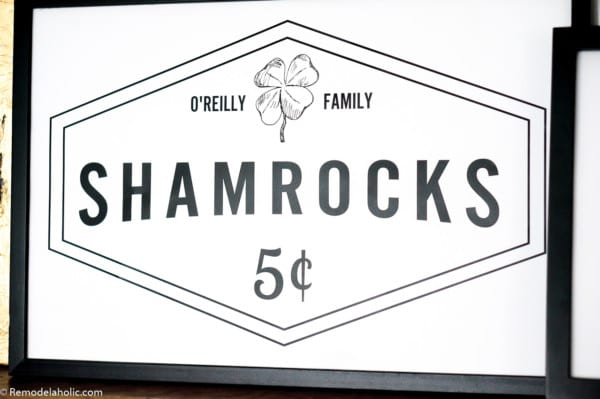 Custom Fillable Printable For St Patrick's Day Family Name Shamrocks For Sale Sign #remodelaholic #stpatricksdaydecorations