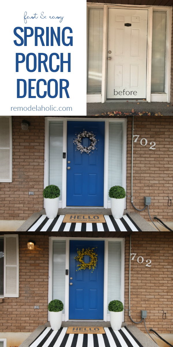 Adding Curb Appeal: Colorful Spring Porch Update