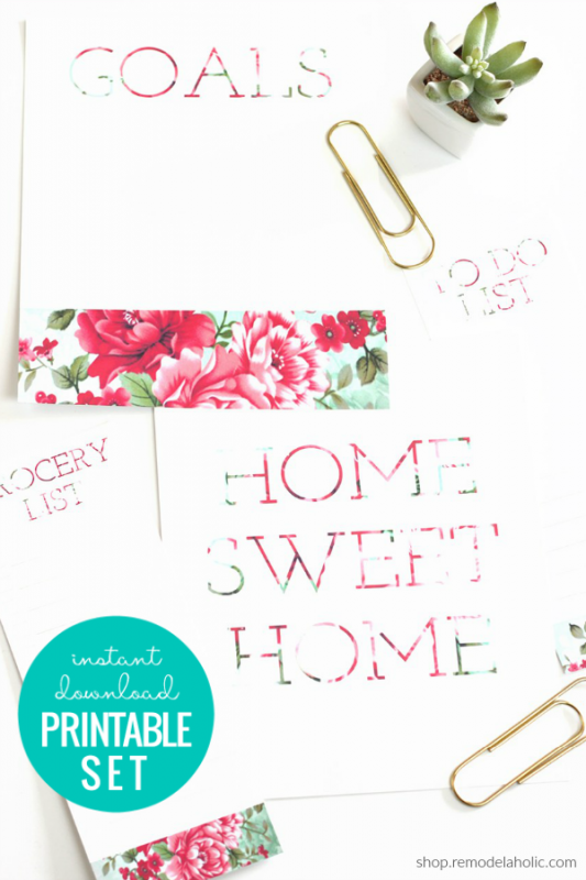 Floral Printable Wall Art And Lists Home Sweet Home Remodelaholic