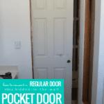 How To Convert A Regular Door Into A Hidden Pocket Door #remodelaholic