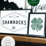 St Patrick's Day Printable Art Set, Custom Family Name Shamrock Sign #remodelaholic Shop Instant Download