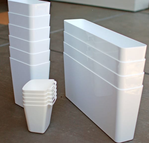 Use IKEA Organizers As Planters For A DIY Wood Slat Garden Wall, The Garden Glove Featured On Remodelaholic
