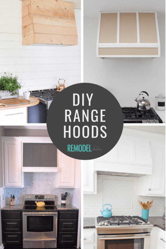 DIY Range Hood Tutorials | Modern Farmhouse Kitchen Ideas