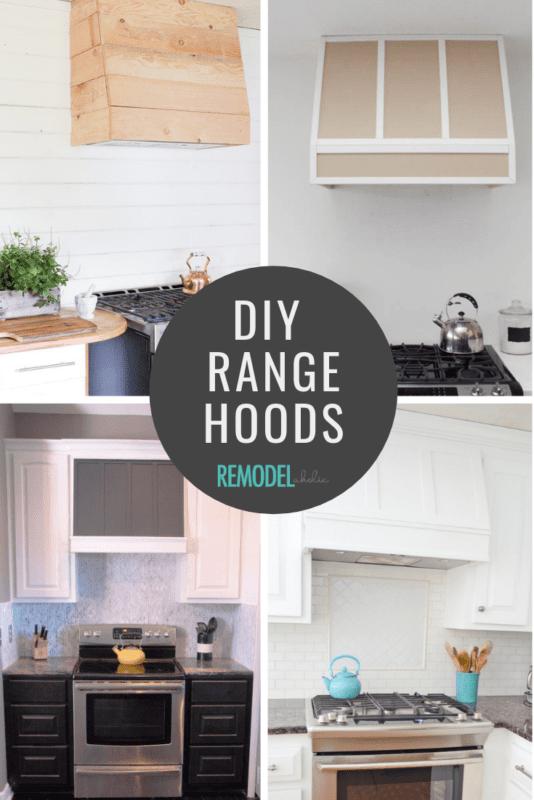 DIY Range Hood Tutorials | Modern Farmhouse Kitchen Ideas