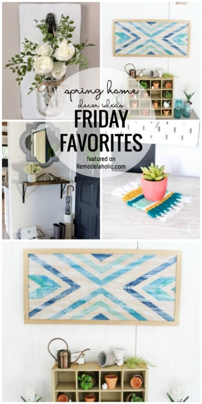 Get Your Home Bright And Cheery For Spring! Spring Home Decor Ideas Friday Favorites Featured On Remodelaholic.com