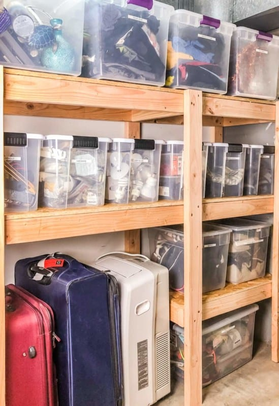 Diy Garage Shelves Final Long Side