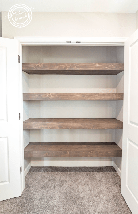 Floating Wood Pantry Shelves Never Skip Brunch