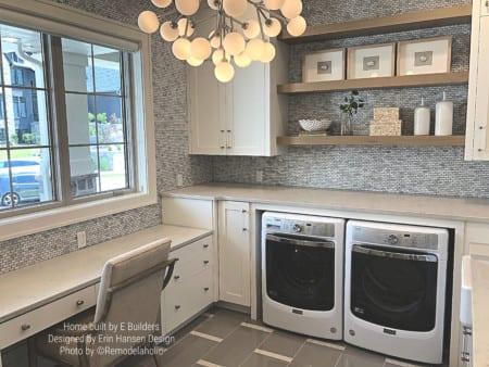 Beautiful Transitional Laundry Room E Builders, Erin Hansen Design