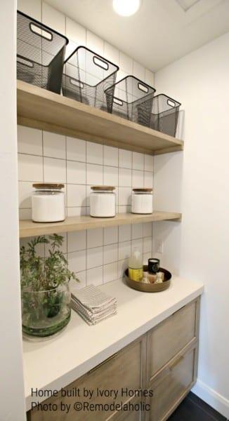 Open Shelving Laundry Room Ivory Homes (15)