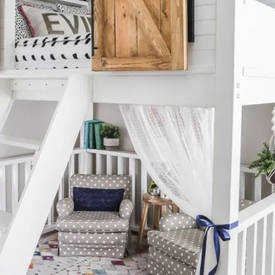 3.3 Bunk Bed Over Rocking Chairs