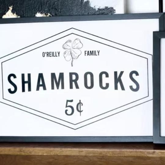 3.3 Customized Family Name With Shamrocks Sign