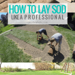 DIY Sod Installation Tips For Laying Your Own Sod #remodelaholic
