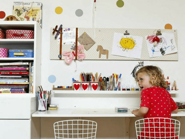 Kids Desk Organization By Lorena Siminovich On Remodelaholic