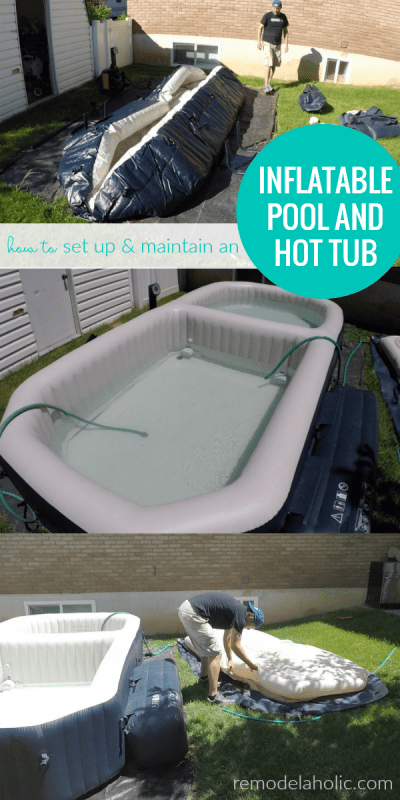 Inflatable Pool Setup And Hot Tub Maintenance