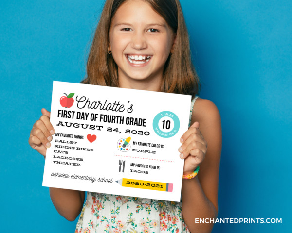 Back To School Signs Enchanted Prints66