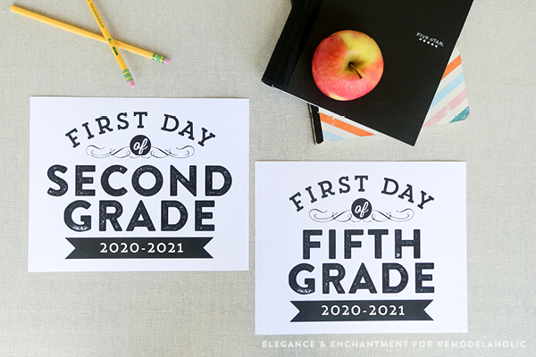 First Day Of School Signs, Printable Editable