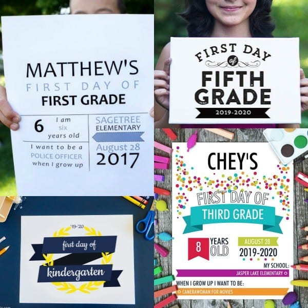 Back To School Photo Signs For First And Last Day #remodelaholic
