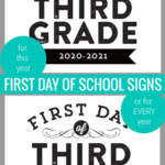 First Day Of School Signs With Fillable Editable Year Remodelaholic
