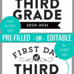 Printable First Day Of School Signs With Editable Year Remodelaholic