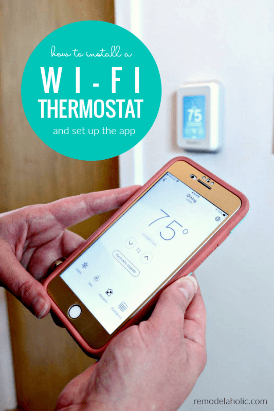 Honeywell Wi Fi Thermostat Setup And Install #remodelaholic