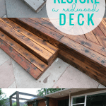How To Restore A Redwood Deck Using Oil Instead Of Stain #remodelaholic