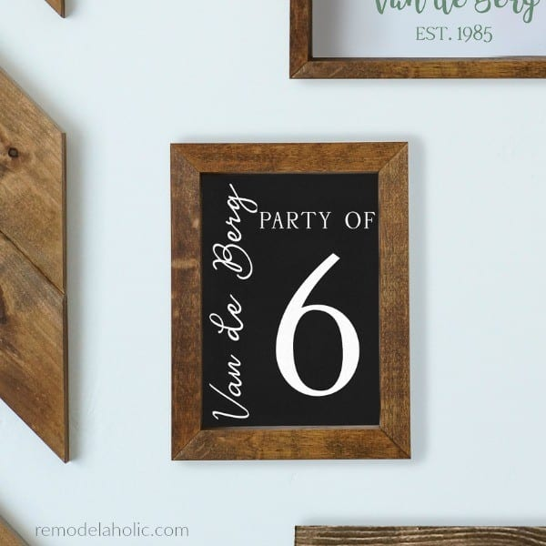 Printable Family Number Sign With Family Name In Chalkboard Black, Editable Custom Name, Instant Download #remodelaholic