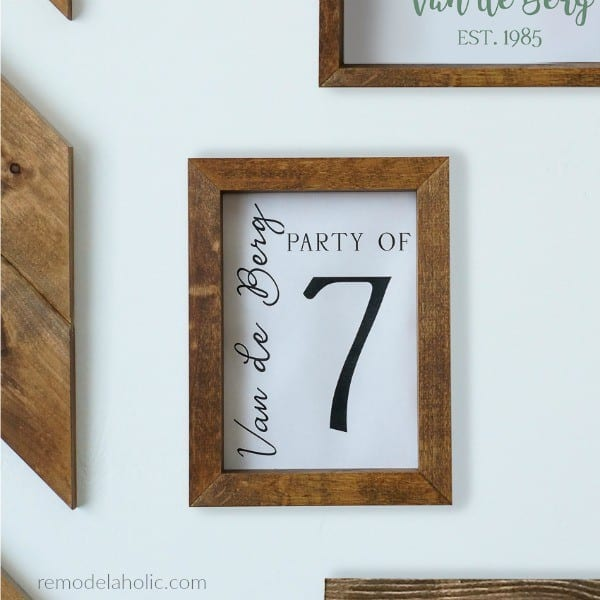 Printable Family Number Sign With Family Name, Personalized Name, Instant Download #remodelaholic