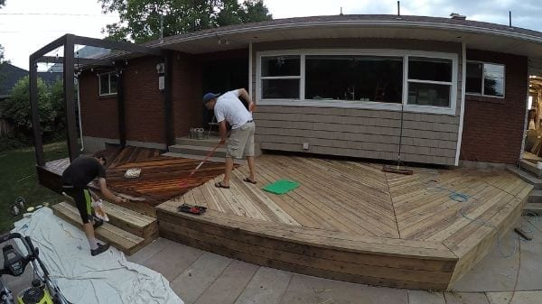 Restore Refinish Redwood Deck With Oil 004