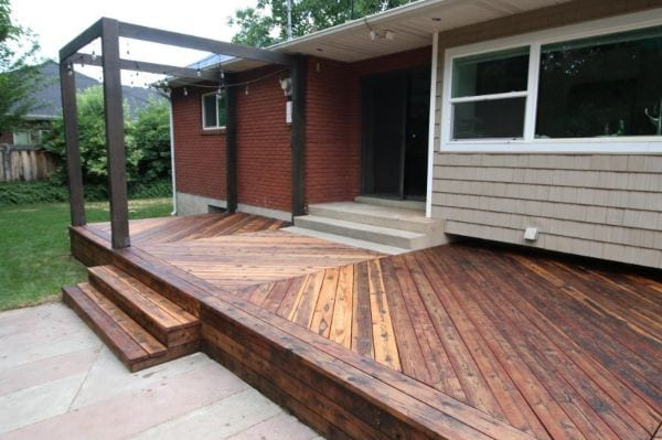 Restore Refinish Redwood Deck With Oil 009