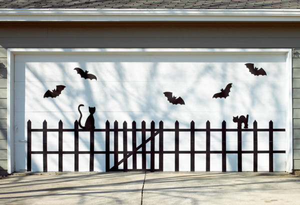 Bat And Cat Garage Door BHG