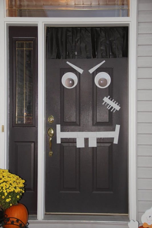 Halloween Door Monster decor idea Bitz n Giggles