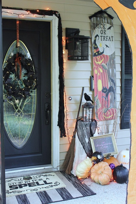 Halloween Front Door Decor Knock It Off Kim