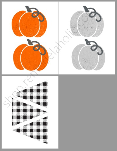 Farmhouse Pumpkin Fall Garland Printable Preview Remodelaholic