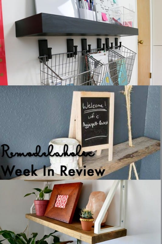 DIY Geometric Display Shelves + An Easy DIY Floating Rope Shelf