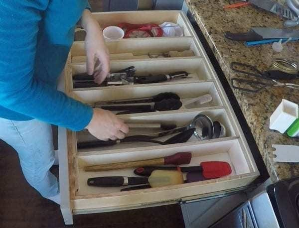 Nautral Wood Removable Large Utensil Drawer Organizer and other drawer ideas